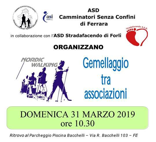 Domenica 31 marzo 2019 – Gemellaggio tra i camminatori di Ferrara e Forlì